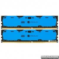 Оперативная память Goodram DDR4-2400 8192MB PC4-19200 (Kit of 2x4096) IRDM Blue (IR-B2400D464L15S/8GDC)