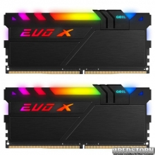 Оперативная память GeIL DDR4-3200 32768MB PC4-25600 (Kit of 2x16384) Evo X II Black (GEXSB432GB3200C16ADC)