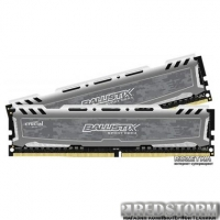 Оперативная память Crucial DDR4-2400 32768MB PC4-19200 (Kit of 2x16384) Ballistix Sport LT (BLS2C16G4D240FSB)