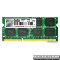 Оперативная память Transcend SODIMM DDR3-1066 4096MB PC3-8500 for Apple (TS4GAP1066S)