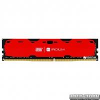 Оперативная память Goodram DDR4-2400 4096MB PC4-19200 IRDM Red (IR-R2400D464L15S/4G)