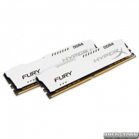 Оперативная память HyperX DDR4-2400 16384MB PC4-19200 (Kit of 2x8192MB) Fury White (HX424C15FW2K2/16)