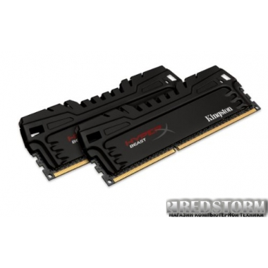 Память Kingston DDR3-1600 16384MB PC3-12800 (Kit of 2x8192) HyperX Beast (KHX16C9T3K2/16X)