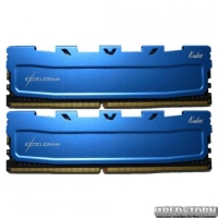 Модуль памяти для компьютера DDR4 16GB 2x8GB 2400 MHz Blue Kudos eXceleram (EKBLUE4162416AD)
