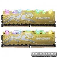 Модуль памяти для компьютера DDR4 16GB (2x8GB) 3000 MHz Panther Rage RGB Silver-Golden Apacer (EK.16