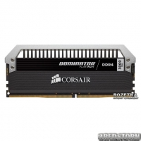 Оперативная память Corsair DDR4-3000 16384MB PC4-24000 (Kit of 2x8192) Dominator Platinum (CMD16GX4M2B3000C15) Black