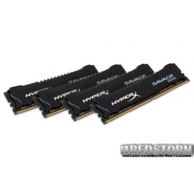 Память Kingston DDR4-2800 32768MB PC4-22400 (Kit of 4x8192) HyperX Savage Black (HX428C14SB2K4/32)