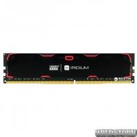 Оперативная память Goodram DDR4-2400 8192MB PC4-19200 IRDM Black (IR-2400D464L15S/8G)