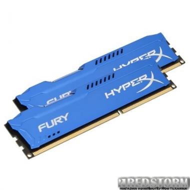 Память Kingston DDR3-1600 8192MB PC3-12800 (Kit of 2x4096) HyperX FURY Blue (HX316C10FK2/8)