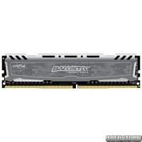 Модуль памяти Crucial DDR4 2400MHz 16GB Ballistix Sport LT Gray Retail (BLS16G4D26BFSB)