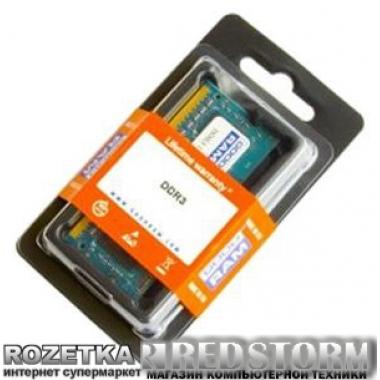 Память Goodram SODIMM DDR3-1333 8192MB PC3-10600 (GR1333S364L9/8G)