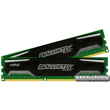 Память Crucial DDR3-1600 16384MB PC3-12800 (Kit of 2x8192) Ballistix Sport (BLS2CP8G3D1609DS1S00CEU)