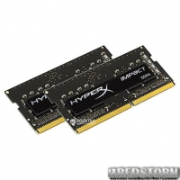 Оперативная память HyperX SODIMM DDR4-2400 16384MB PC4-19200 (Kit of 2x8192) Impact Black (HX424S14IB2K2/16)