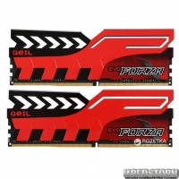 Оперативная память GeIL DDR4-3200 16384MB PC4-25600 (Kit of 2x8192) Evo Forza Red (GFR416GB3200C16ADC)
