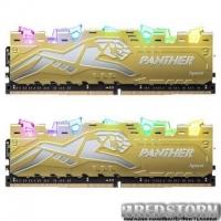 Модуль памяти для компьютера DDR4 16GB (2x8GB) 2666 MHz Panther Rage RGB Silver-Golden Apacer (EK.16