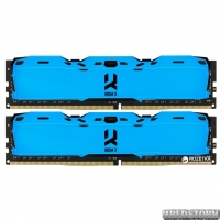 Оперативная память Goodram DDR4-3000 16384MB PC4-24000 (Kit of 2x8192) IRDM X Blue (IR-XB3000D464L16S/16GDC)