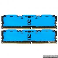Оперативная память Goodram DDR4-3000 16384MB PC4-24000 (Kit of 2x8192) IRDM X Blue (IR-XB3000D464L16S/16GDC)
