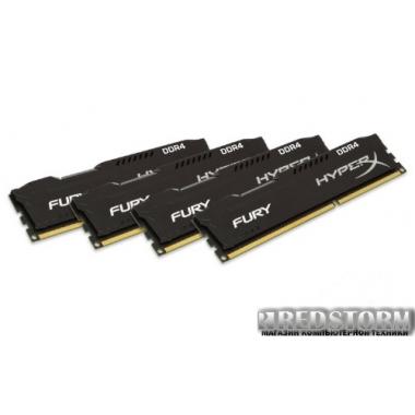 Память Kingston DDR4-2133 32768MB PC4-17064 (Kit of 4x8192) HyperX Fury (HX421C14FBK4/32)