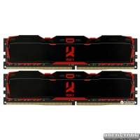 Оперативная память Goodram DDR4-3000 16384MB PC4-24000 (Kit of 2x8192) IRDM X Black (IR-X3000D464L16S/16GDC)