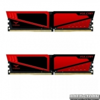 Память TEAM 16 GB 2x8GB DDR4 3200 MHz T-Force Vulcan Red (TLRED416G3200HC16CDC01)