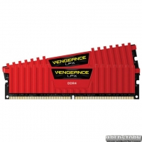 CORSAIR Vengeance LPX 32GB Red [2x16GB 3000MHz] (CMK32GX4M2B3000C15R)