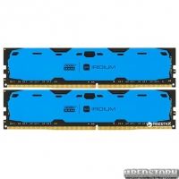 Оперативная память Goodram DDR4-2400 16384MB PC4-19200 (Kit of 2x8192) IRDM Blue (IR-B2400D464L15S/16GDC)