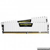 Оперативная память Corsair DDR4-2666 16384MB PC4-21300 (Kit of 2x8192) Vengeance LPX (CMK16GX4M2A2666C16W) White