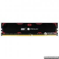 Оперативная память Goodram DDR4-2133 4096MB PC4-17000 Iridium Black (IR-2133D464L15S/4G)