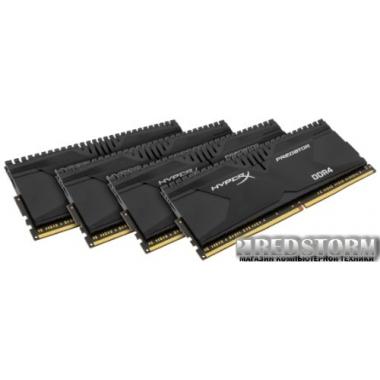 Память Kingston DDR4-3000 32768MB PC4-24000 (Kit of 4x8192) HyperX Predator (HX430C15PBK4/32)