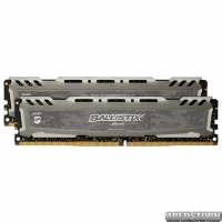 Оперативная память Crucial DDR4-2400 16384MB PC4-19200 (Kit of 2x8192) Ballistix Sport LT Grey (BLS2K8G4D240FSBK)
