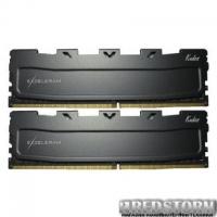 Модуль памяти для компьютера DDR4 8GB (2x4GB) 2400 MHz Black Kudos eXceleram (EKBLACK4082414AD)