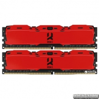 Оперативная память Goodram DDR4-3000 16384MB PC4-24000 (Kit of 2x8192) IRDM X Red (IR-XR3000D464L16S/16GDC)