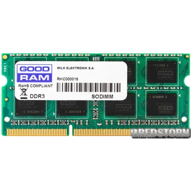 Память Goodram SODIMM DDR3-1600 2048MB PC3-12800 (GR1600S3V64L11/2G)