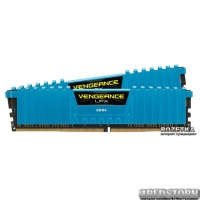 Оперативная память Corsair DDR4-3000 16384MB PC4-24000 (Kit of 2x8192) Vengeance LPX (CMK16GX4M2B3000C15B) Blue
