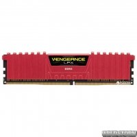 Оперативная память Corsair DDR4-2400 8192MB PC4-19200 Vengeance LPX (CMK8GX4M1A2400C16R) Red