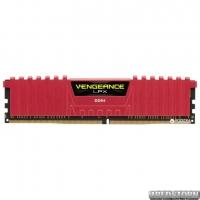 Оперативная память Corsair DDR4-2400 8192MB PC4-19200 Vengeance LPX (CMK8GX4M1A2400C16R) Red
