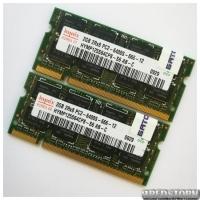 Комплект оперативной памяти Hynix SODIMM DDR2 4Gb (2Gb+2Gb) 800 MHz 6400s CL6 (HYMP125S64CP8-S6 AB-C) Б/У
