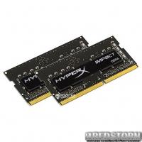 Оперативная память HyperX SODIMM DDR4-2400 16384MB PC4-19200 (Kit of 2x8192) Impact Black (HX424S14IB2K2/16)