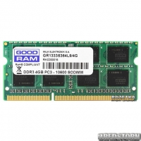 Оперативная память Goodram SODIMM DDR3-1333 4096MB PC3-10600 (GR1333S364L9/4G)
