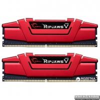 Оперативная память G.Skill DDR4-3000 8192MB PC4-24000 (Kit of 2x4096) Ripjaws V Red (F4-3000C15D-8GVR)