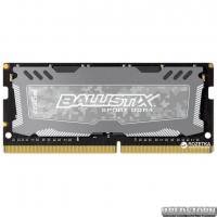 Оперативная память Crucial SODIMM DDR4-2400 8192MB PC4-19200 Ballistix Sport LT Grey (BLS8G4S240FSD)