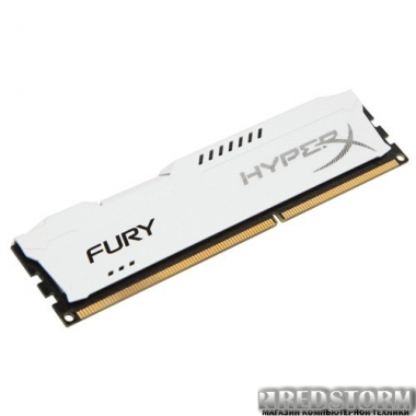 Память Kingston DDR3-1600 4096MB PC3-12800 HyperX FURY White (HX316C10FW/4)