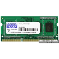 Goodram SODIMM DDR3-1333 4096MB PC3-10600 (GR1333S364L9S/4G)