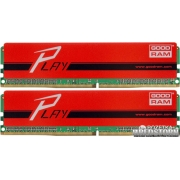 Goodram DDR4-2400 16384MB PC4-19200 (Kit of 2x8192) Play Red (GYR2400D464L15S/16GDC)
