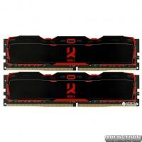 Оперативная память Goodram DDR4-3000 16384MB PC4-24000 (Kit of 2x8192) IRDM X Black (IR-X3000D464L16S/16GDC)