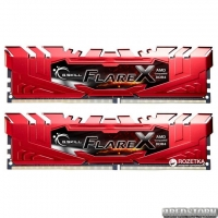 Оперативная память G.Skill DDR4-2400 32768MB PC4-19200 (Kit of 2x16384) Flare X Red (F4-2400C15D-32GFXR)