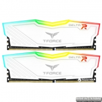 Оперативная память Team T-Force Delta DDR4-2666 8192MB PC-21300 (Kit of 2x4096) White RGB LED (TF4D48G2666HC15BDC01)