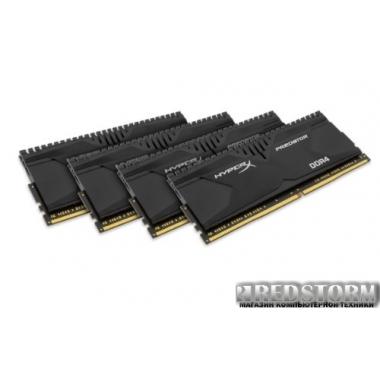 Память Kingston DDR4-2400 16384MB PC4-19200 (Kit of 4x4096) HyperX Predator (HX424C12PB2K4/16)
