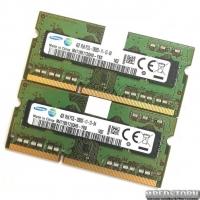 Оперативная память для ноутбука Samsung SODIMM DDR3L 8Gb (4Gb+4Gb) 1600MHz 12800S CL11 (M471B5173QH0-YK0) Б/У
