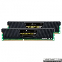 Оперативная память Corsair DDR3-1600 8192MB PC3-12800 (Kit of 2x4098) Vengeance Low Profile (CML8GX3M2A1600C9) Black